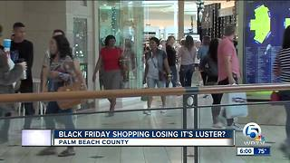 Black Friday shoppng losing its luster?