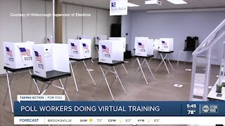 Florida Poll workers being trained after a huge response to recruitment efforts