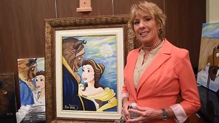 Voice of Disney's Belle, Paige O'Hara now paints her too, showcases art at Las Vegas gallery - Video
