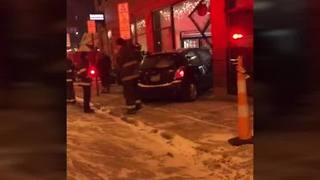 12-8 Car crashed into Banter restaurant - Video