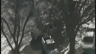 Kansas City police chase suspect switches trucks - Video
