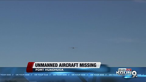 Lost unmanned aircraft