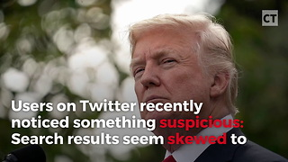 "Twitter Calls Trump, ""Nazi,"" ""Racist"" in Search Results - Video"