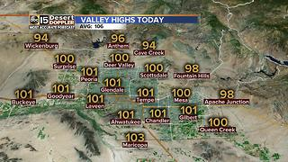 Slight chance of rain in the Valley - Video