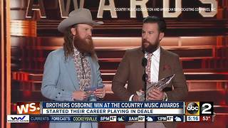 Brothers Osborne win big at the Country Music Awards - Video