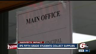 IPS students collect supplies for Hurricane Harvey victims - Video