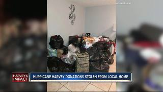 Hurricane Harvey donations stolen from local home - Video
