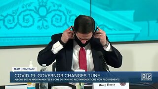 Governor Ducey changes tune on COVID-19
