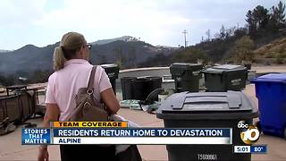 Residents check on their homes after the West Fire - Video