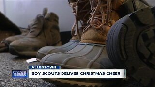 Boy Scouts deliver Christmas cheer