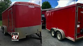Trailer stolen from construction site