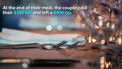 Strangers leave waitress huge tip, return the next day with an even bigger surprise | Hot Topics