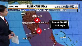 Hurricane Irma 9/7/17 - 11am update - Video