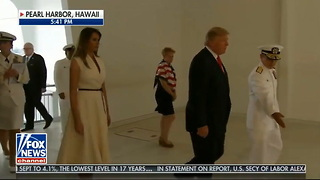 President Trump Follows Bergdahl Slam with Moving Pearl Harbor Tribute En Route to Asia - Video