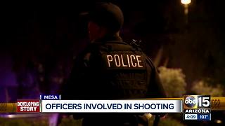 Suspect from Mesa officer-involved shooting hospitalized in critical condition