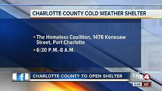 Port Charlotte homeless shelter opening - Video