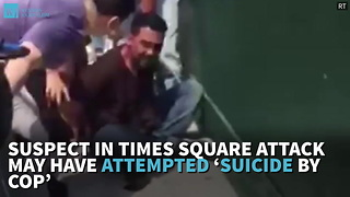 Suspect In Times Square Attack May Have Attempted 'Suicide By Cop' - Video