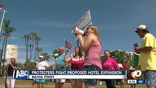 Protesters fight proposed hotel expansion