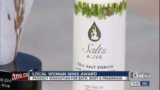 Local woman wins award for bath, body, fragrance - Video