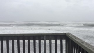Hurricane Maria Stirs Up Outer Banks Surf - Video