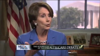 Nancy Pelosi Promises Lower Premiums for All - Video