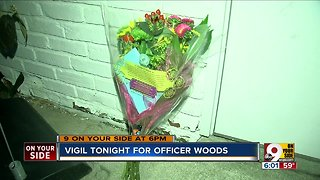 Vigil tonight for Officer Woods