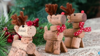 Reindeer Wine Cork DIY Christmas Ornament - Video