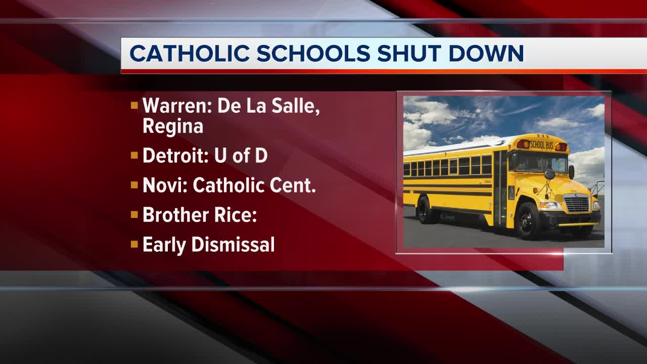 Several Catholic schools in metro Detroit closed Friday due to threats