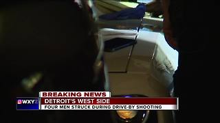 4 people injured in drive-by shooting on Detroit's west side