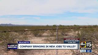 Motor company bringing new jobs to Buckeye - Video
