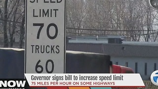 Gov. Rick Snyder signs bill to raise speed limits on designated roads - Video