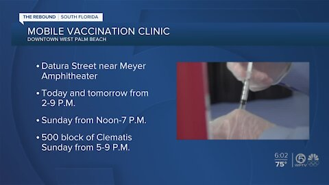 Health Care District hosts mobile vaccination clinic in downtown West Palm Beach
