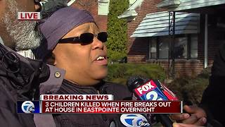Three children killed in Eastpointe house fire - Video