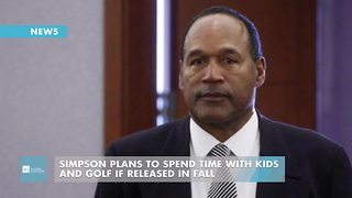Simpson Plans To Spend Time With Kids And Golf If Released In Fall - Video