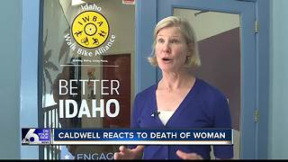 Caldwell reacts to death of woman