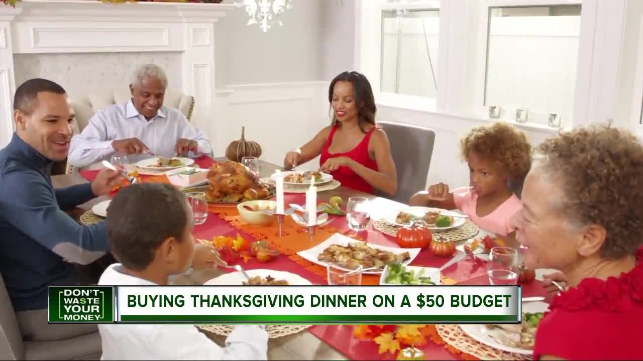 Buying a Thanksgiving dinner on a $50 budget