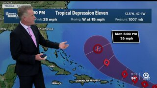 Tropical Depression 11 could become Tropical Storm Josephine