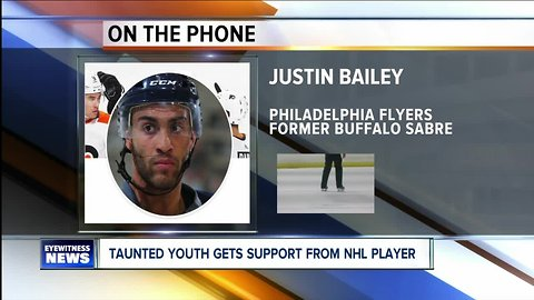 NHL player throwing support behind taunted youth from Amherst Youth Hockey team.
