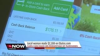 Local woman makes $2,100 on cashback website Ebates.com - Video