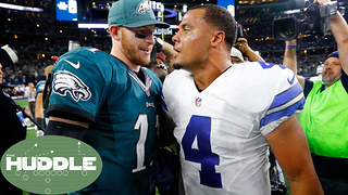 Dak Prescott vs Carson Wentz: Better Sophomore Season?  The Huddle - Video