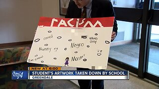 Students art taken down because it was too explicit