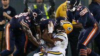 Davante Adams Takes DIRTY Helmet-to-Helmet Hit from Danny Trevathan - Video
