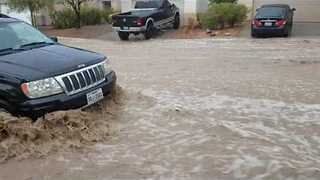 Monsoon Causes Flash Floods in Las Vegas - Video