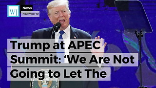 Trump at APEC Summit: 'We Are Not Going To Let The United States Be Taken Advantage Of Anymore' - Video