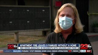 Apartment Fire Leaves 9 families without a home
