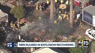 Community comes together to help family and men injured in explosion - Video