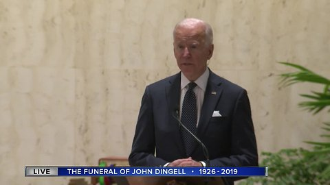 UNEDITED: Former VP Joe Biden speaks at Rep. Dingell's funeral