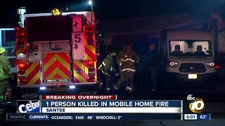 1 person killed in Santee mobile home fire