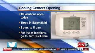 Cooling centers open around the County
