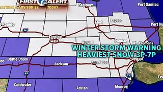 Winter Storm Warning begins at 10am - Video